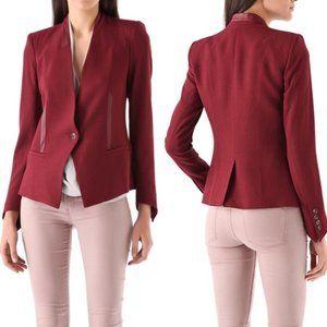 Helmut Lang Red Pixel Blazer Suit Jacket sz 4